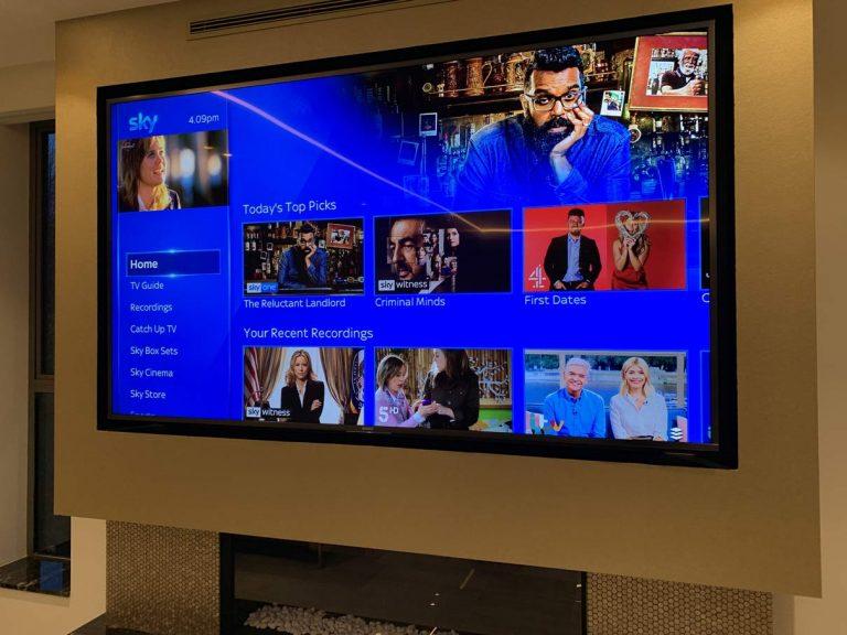 "85"" Smart TV Installed"