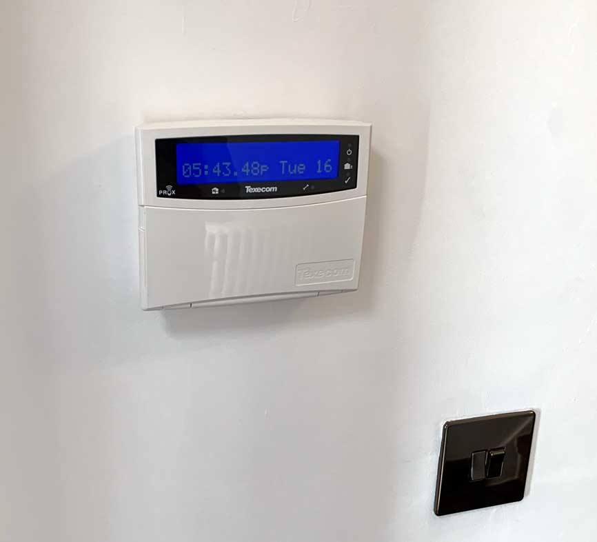 Texecom Alarm Panel TAG operated
