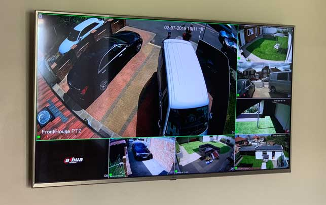 CCTV Viewed from APP or on TV's